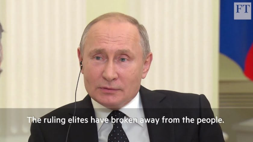 How Russia's President Putin Explains the End of the 'Liberal' Order
