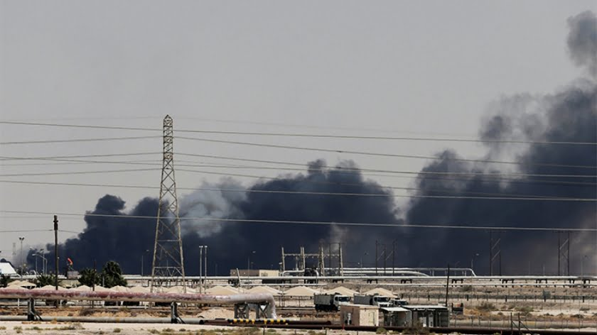 The Strange Case of the Burning Saudi Refineries