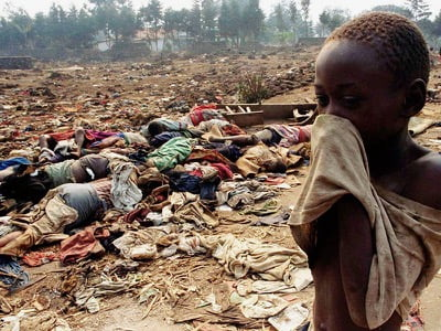 In Rwanda, approximately 800,000 people were massacred with machetes in a matter of weeks in 1994.