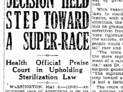 Before Germany, the United States asked itself the question of race. Rather than imagine murdering those it considered inferior races, it advocated their compulsory sterilization.