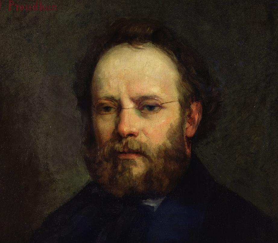 A portrait of Proudhon by his friend Gustave Courbet (1865)