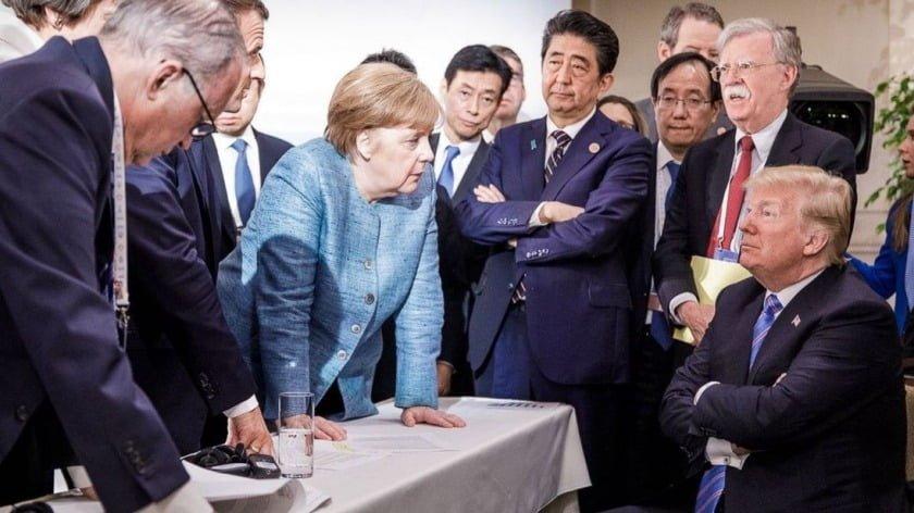 G7 Walks Towards a Long Sunset