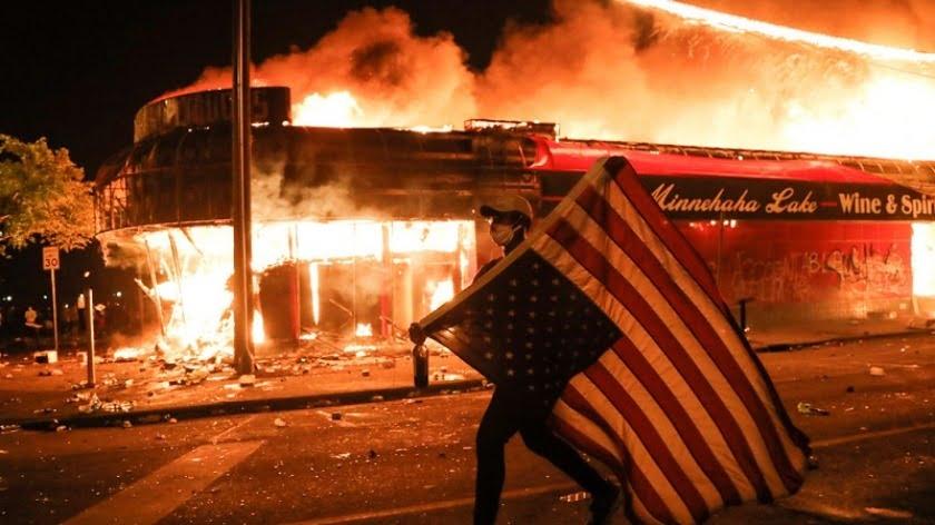 Mayhem In America: Masks Off, Molotovs Out!