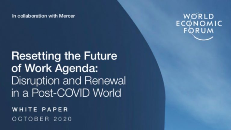 """Post Covid World, WEF's Diabolical Project: """"Resetting the Future of Work Agenda"""" – After """"The Great Reset"""""""