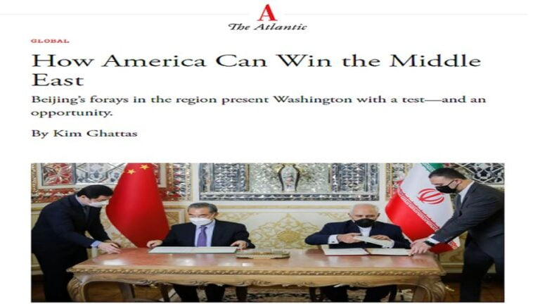 The Atlantic Has It All Wrong About China, The US, and West Asia